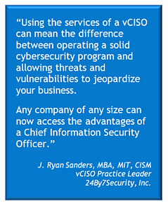 Any business can access the advantages of a virtual CISO