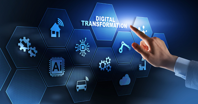 In the banking industry, digital transformation refers to the front-end movement to offer more customer-facing services online as well as the back-end heavy lifting required to support those online services.