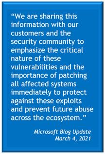 Microsoft Blog Update Hacking Breach