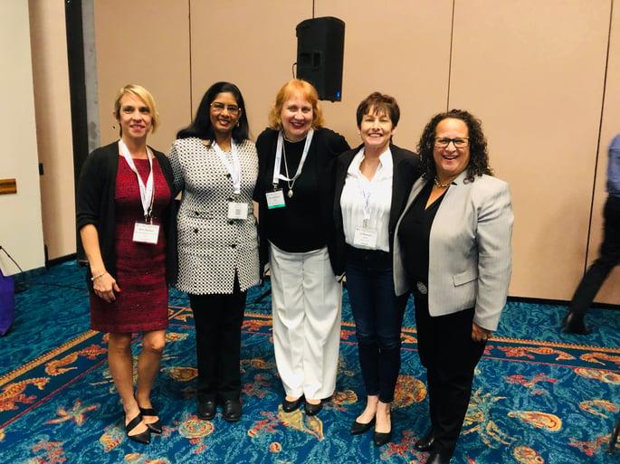 Women in tech panelists