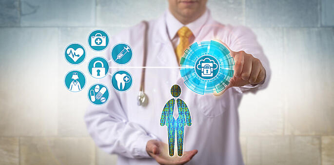 doctor accessing patient data healthcare information access 24by7security