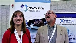 Elizabeth Decker and Lenny Chesal at ITPalooza