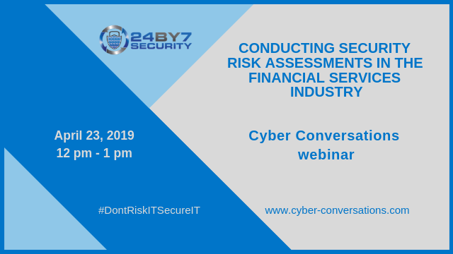 webinar cyber conversations SRA financial services 24by7security